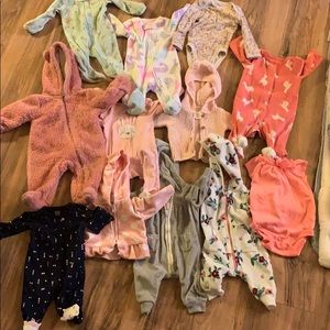 Newborn and 3 month baby girl clothes bundle!